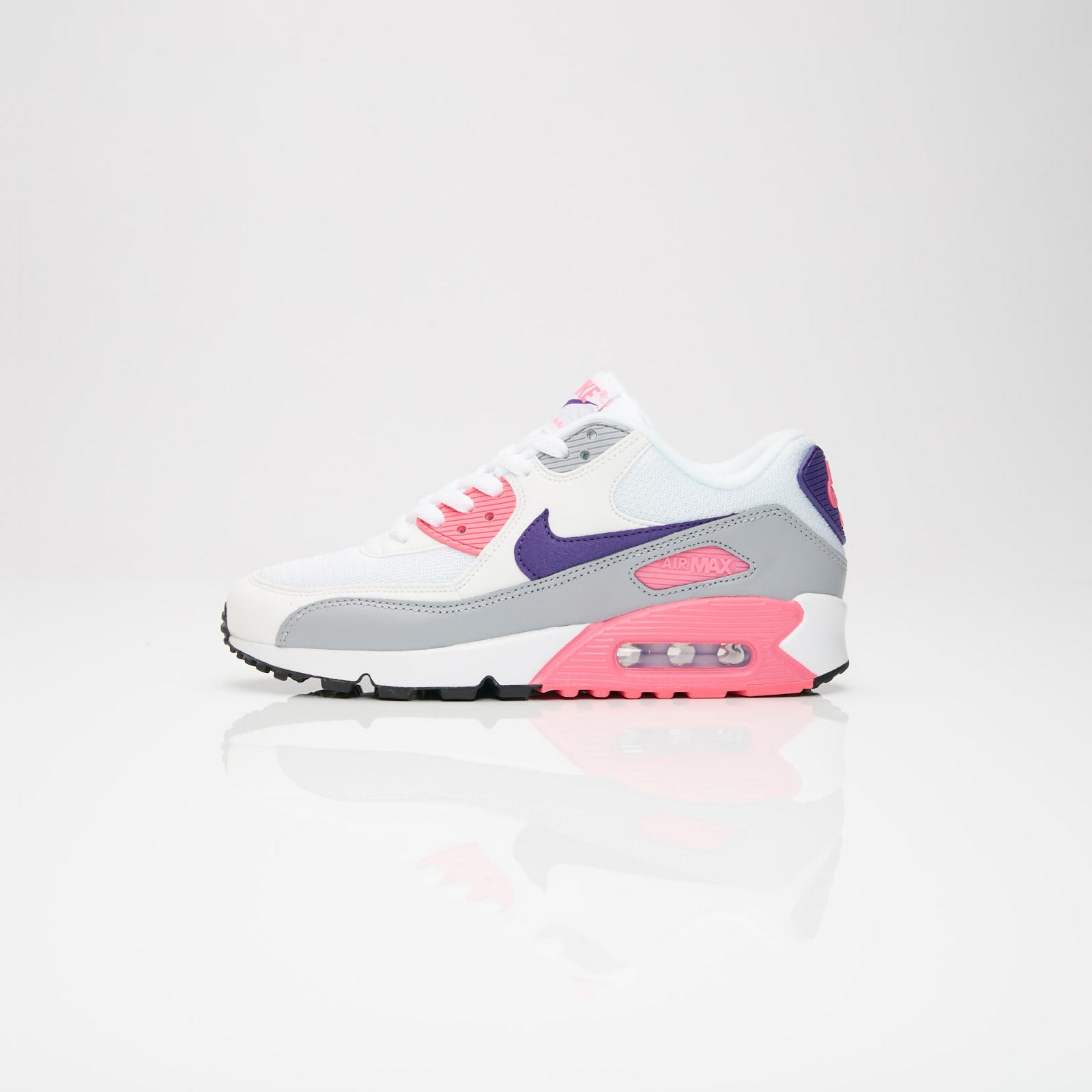 Nike Air Max 90 Womens Size 6 White Laser Pink Purple Grey 325213 136