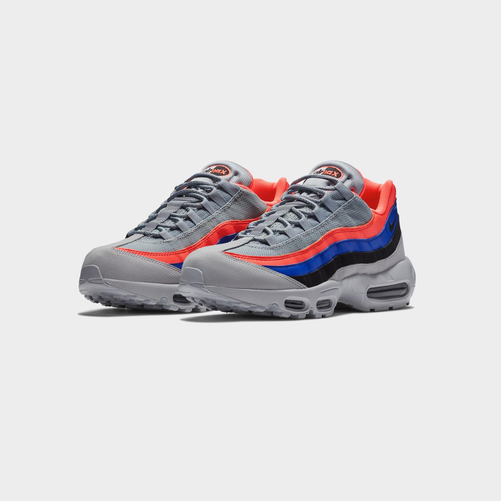 Nike Air Max 95 Essential Grey Black Orange Men | 749766 035
