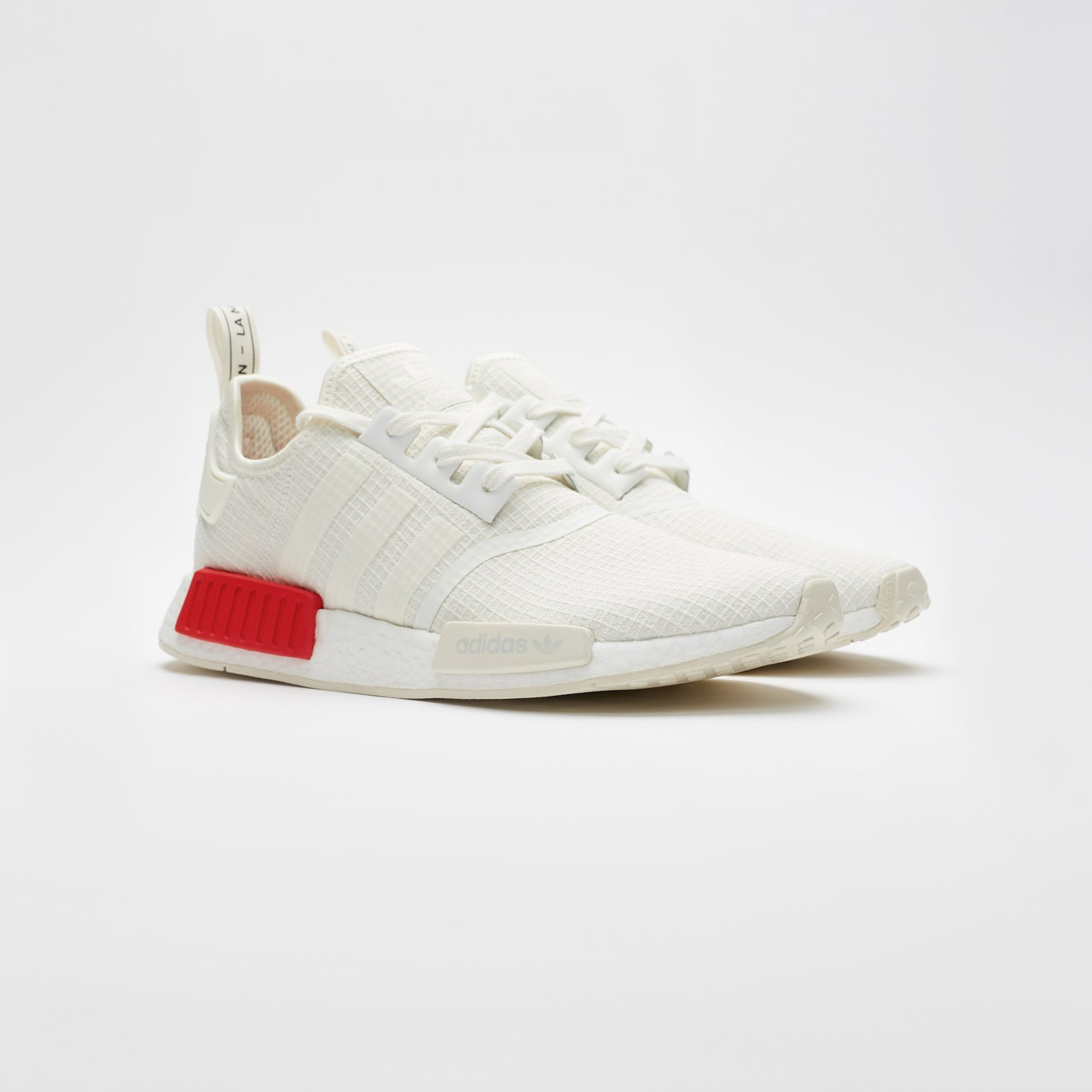 low priced e5d62 12d83 Adidas NMD R1 # B37619 Off White Red Men SZ 7.5 - 13
