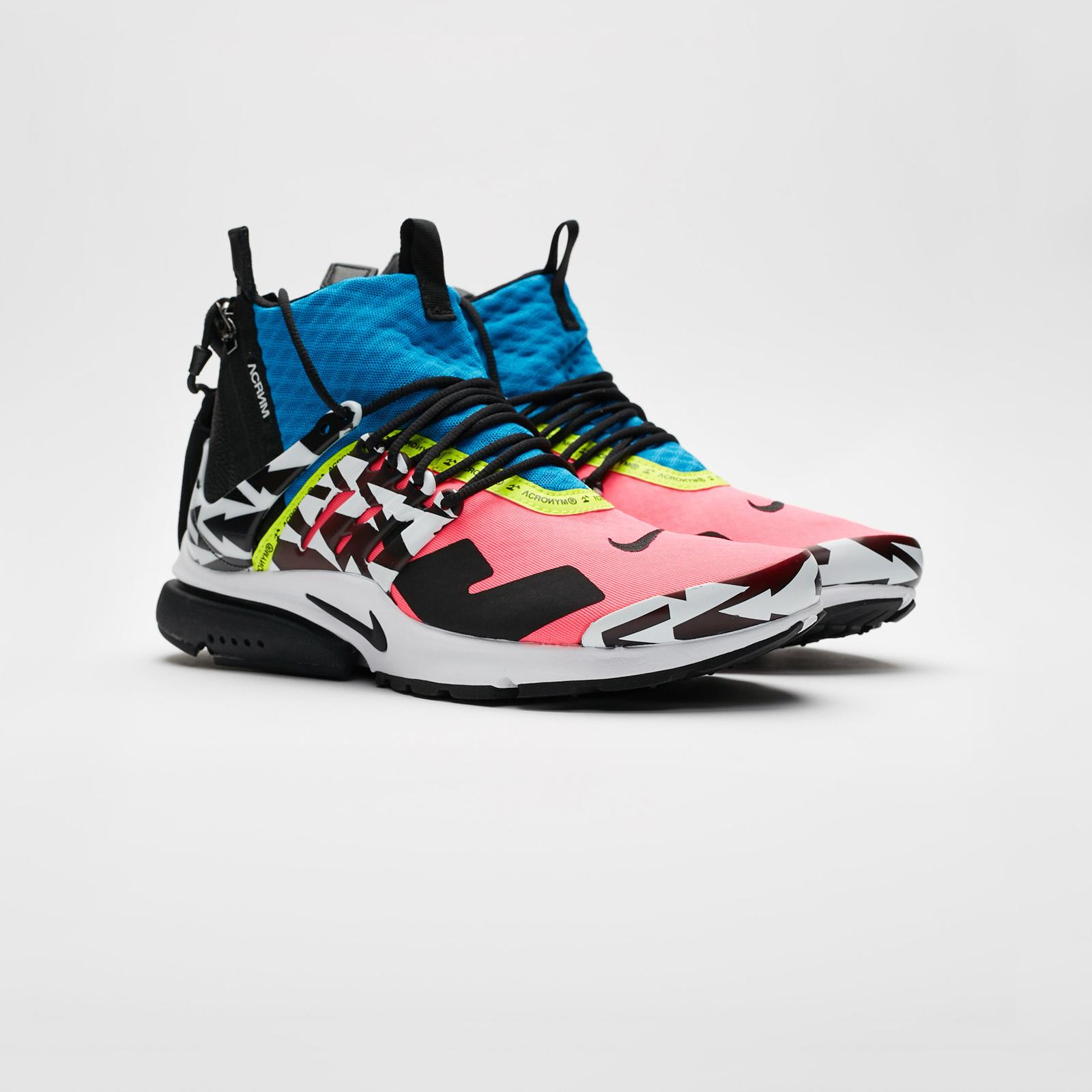 72bbdd19cf1 Nike Air Presto Mid x Acronym - Ah7832-600 - Sneakersnstuff ...