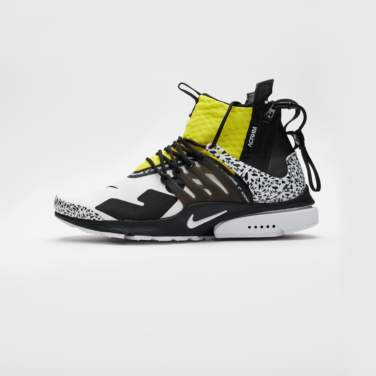 abbba3d6e40c Nike Air Presto Mid x Acronym - Ah7832-100 - Sneakersnstuff ...