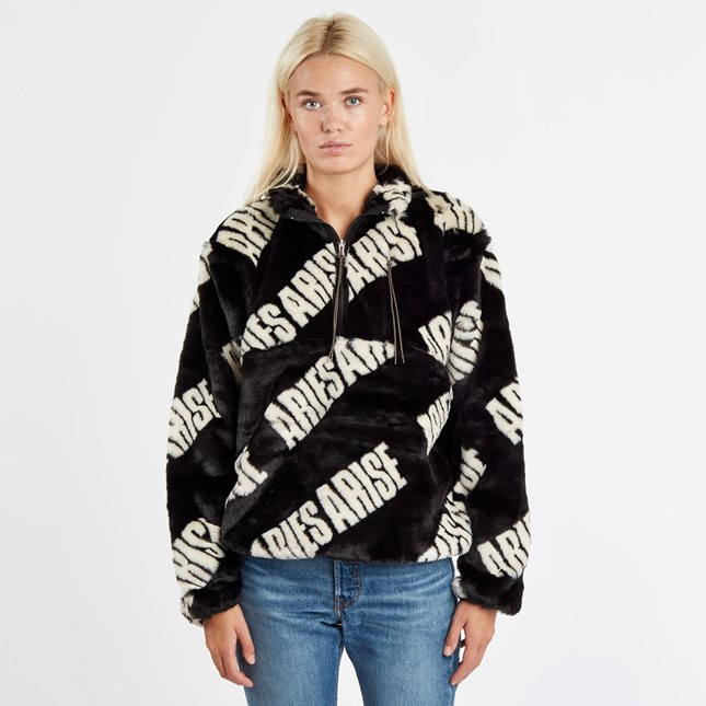 Aries Furry Half Zip