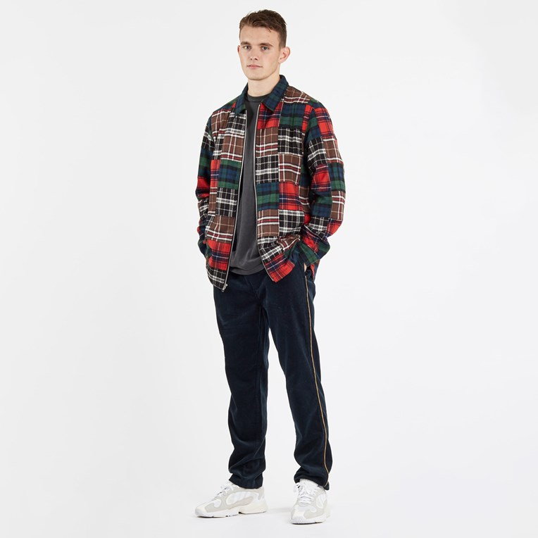 Stussy Patchwork Zip Up Ls Shirt - 6