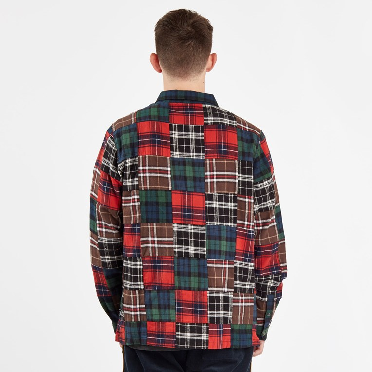 Stussy Patchwork Zip Up Ls Shirt - 3
