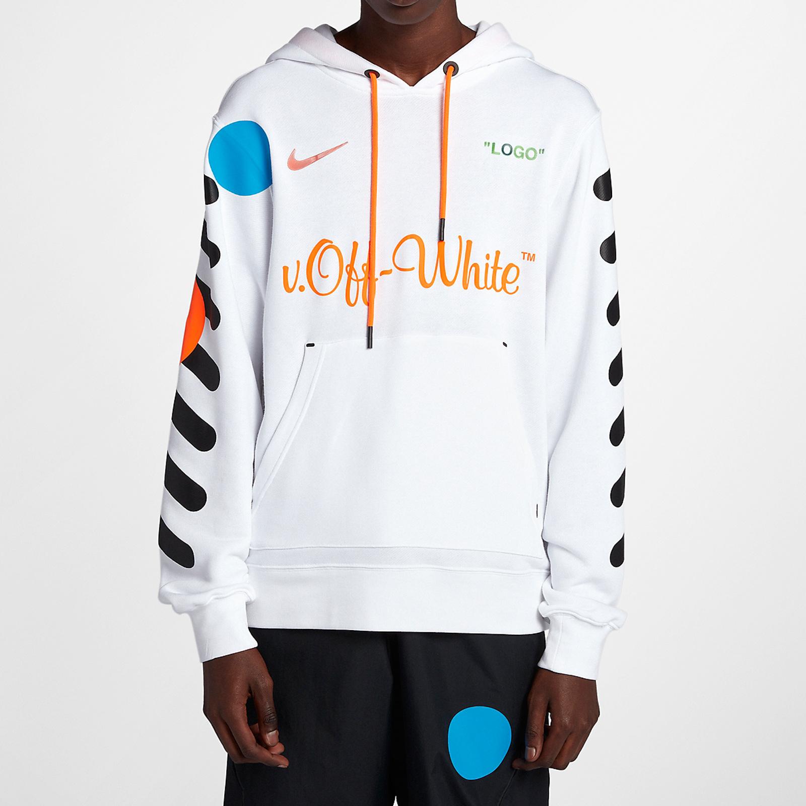Nike Nike X Off White Hoodie - Aa3257-100 - Sneakersnstuff ... 065fe48ec