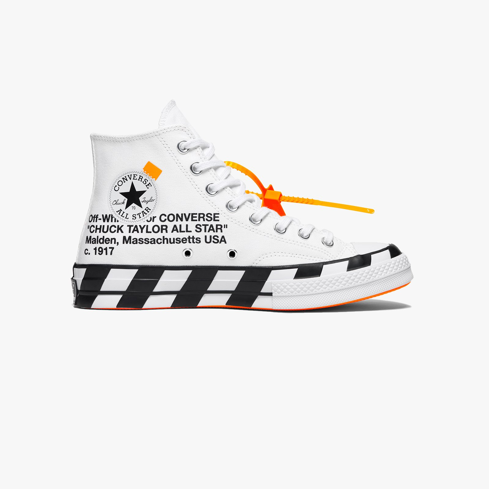 Cloth trainers Converse x Off White White size 39.5 EU in
