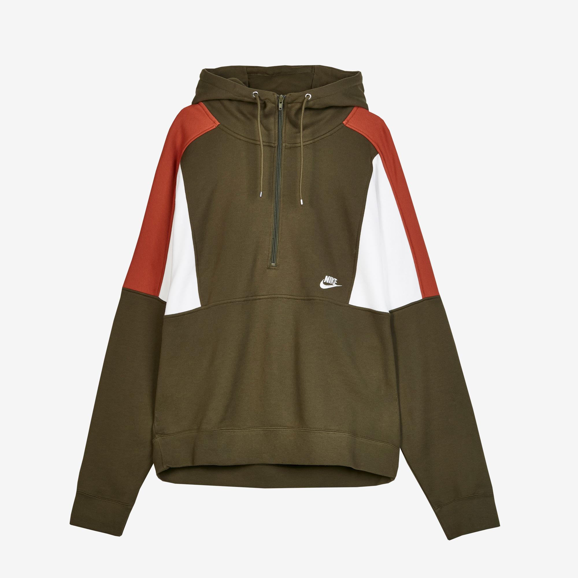 08a5b6c55417 Nike Half-Zip Fleece Hoodie - Aq2065-395 - Sneakersnstuff