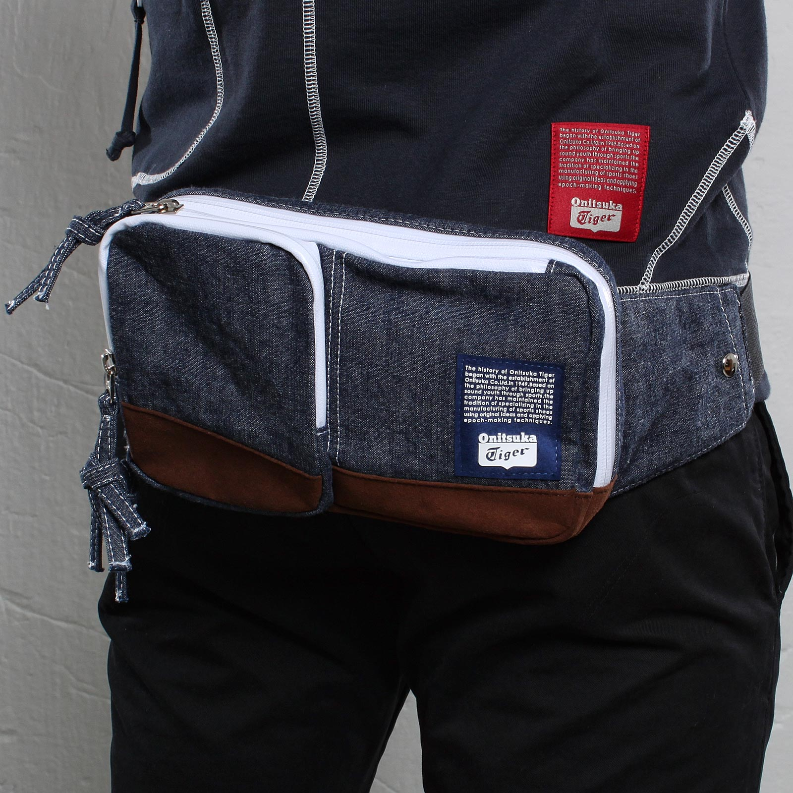 Onitsuka Tiger Indigo Waist Bag - EOT928-0052
