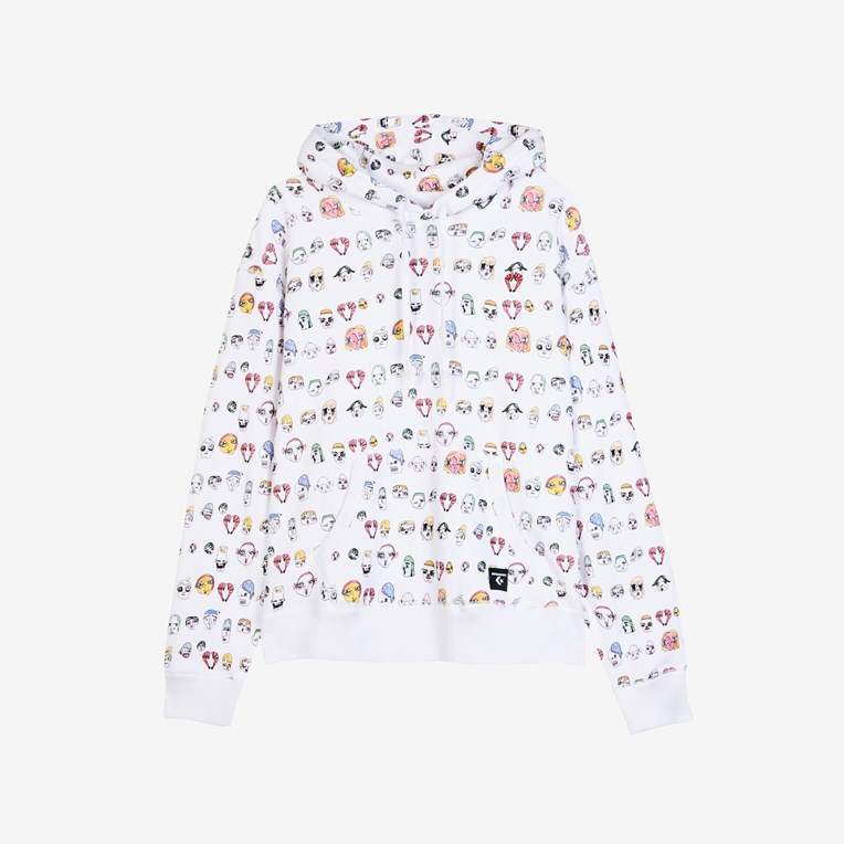 Converse Faces Relaxed Fit Pullover Hoodie x Shrimps
