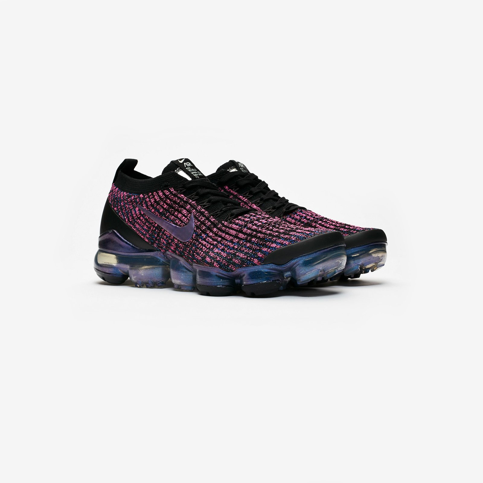 Nike Wmns Air Vapormax Flyknit 3 Black Purple Womens Running Shoes AJ6910-003