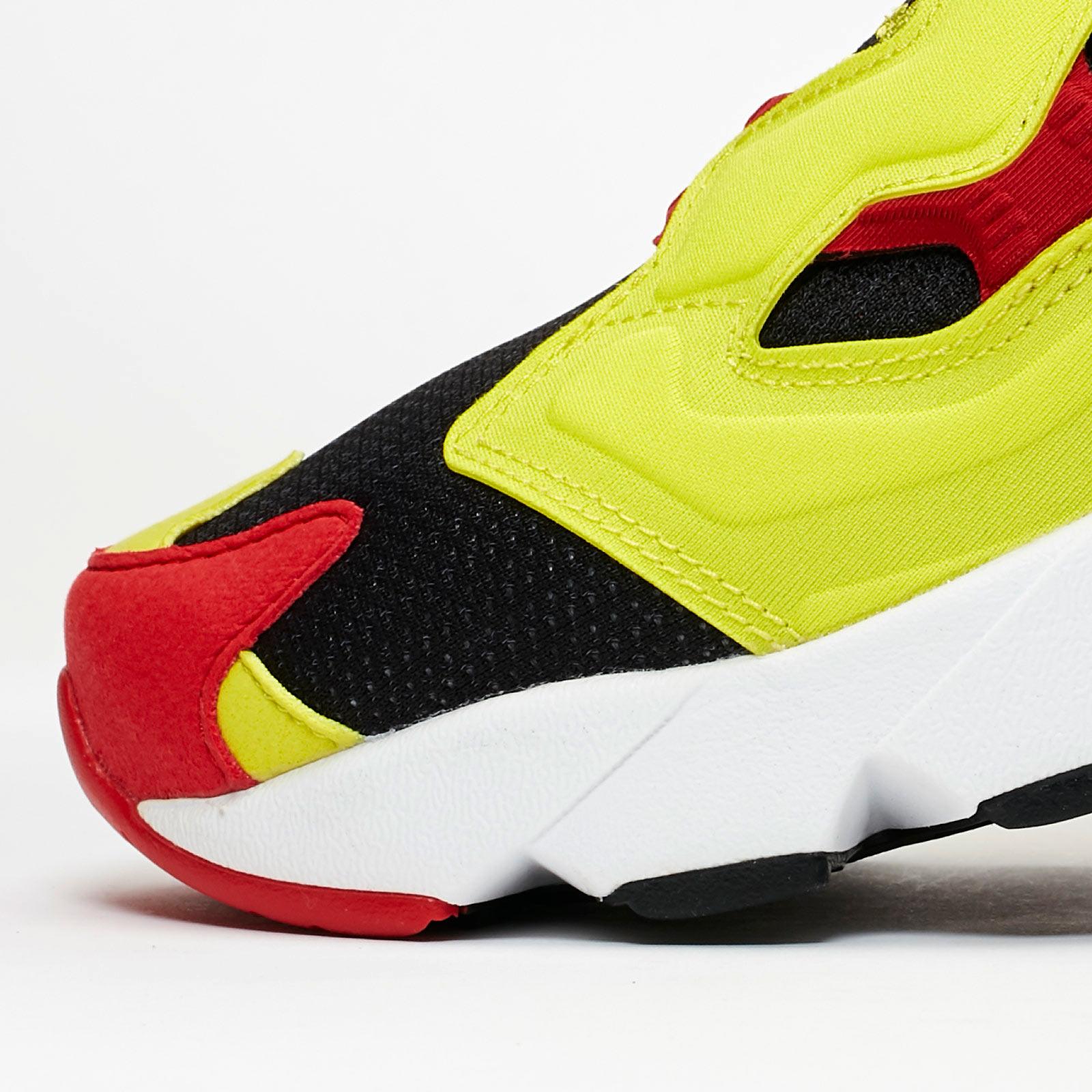 Reebok Instapump Fury Og Black/green/red In Yellow