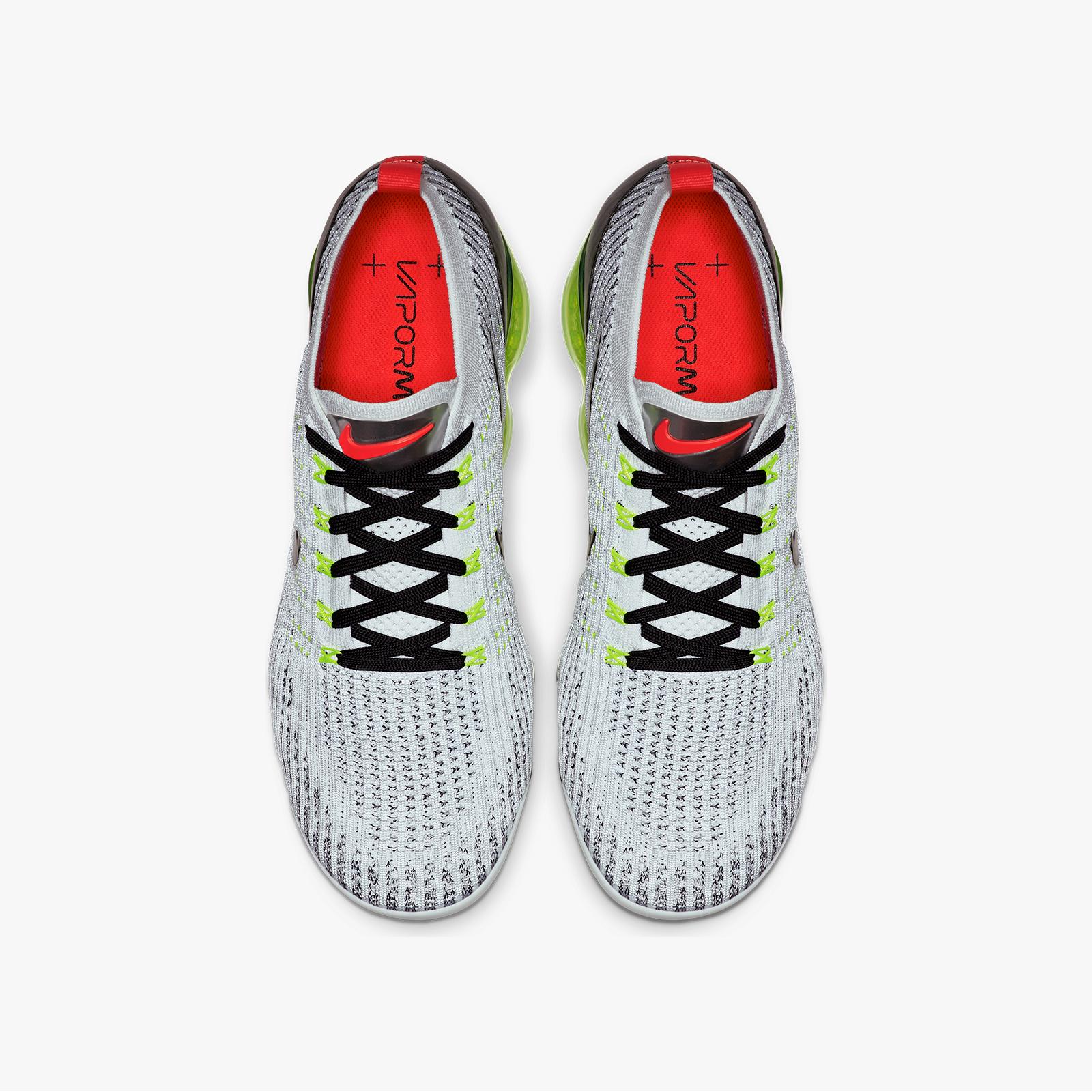 91fb22919f Nike Air Vapormax Flyknit 3. Style Code: Aj6900-100. Color: White/Black/Volt