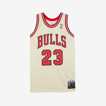 Gold Authentic Jersey - Michael Jordan