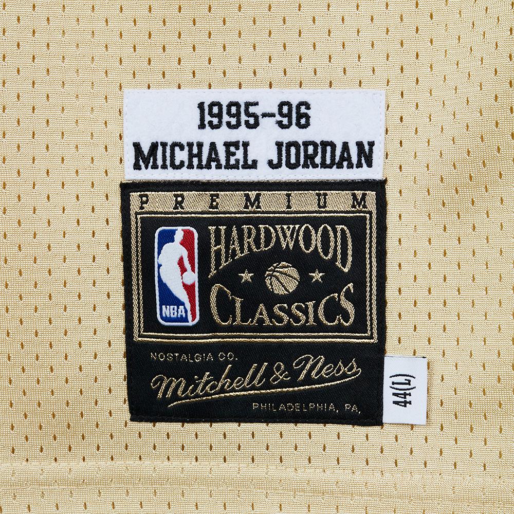 promo code 7d34c 9b114 Mitchell & Ness Gold Authentic Jersey - Michael Jordan ...
