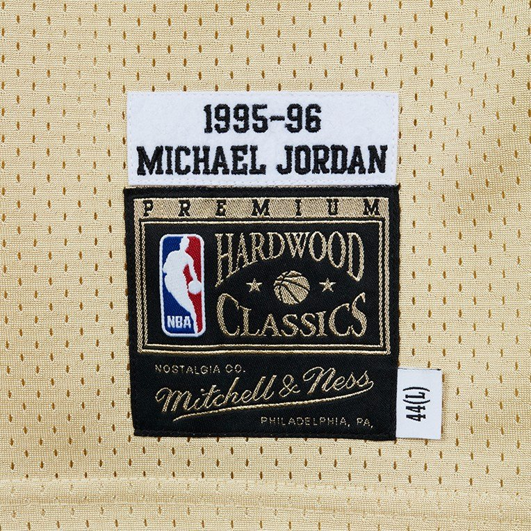 Mitchell & Ness Gold Authentic Jersey - Michael Jordan - 4