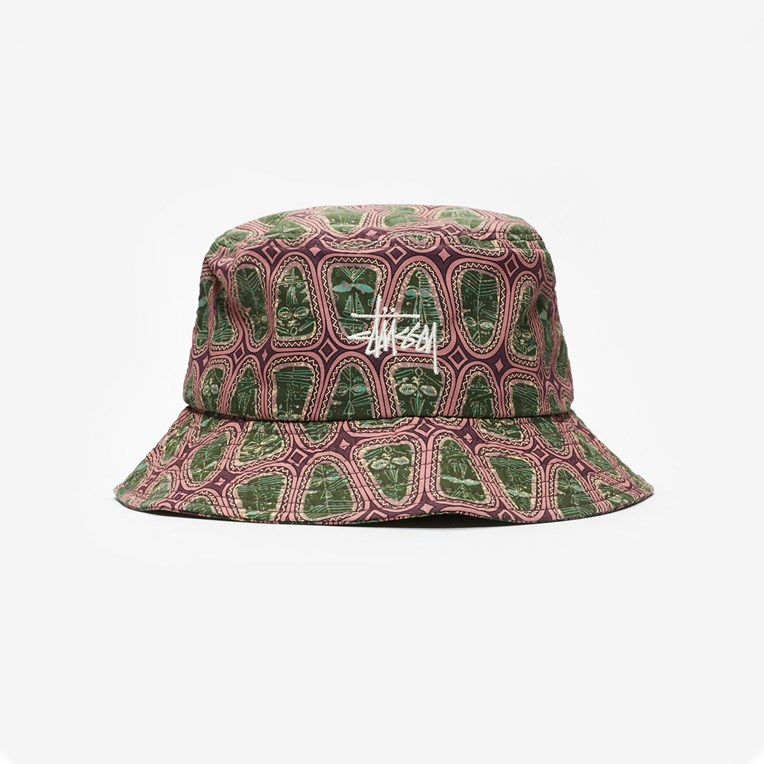 Stussy Mask Pattern Bucket Hat