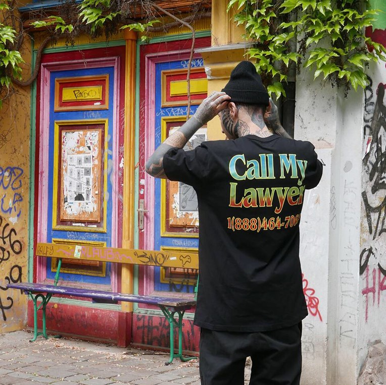 Chinatown Market Call My Lawyer Tee - 4