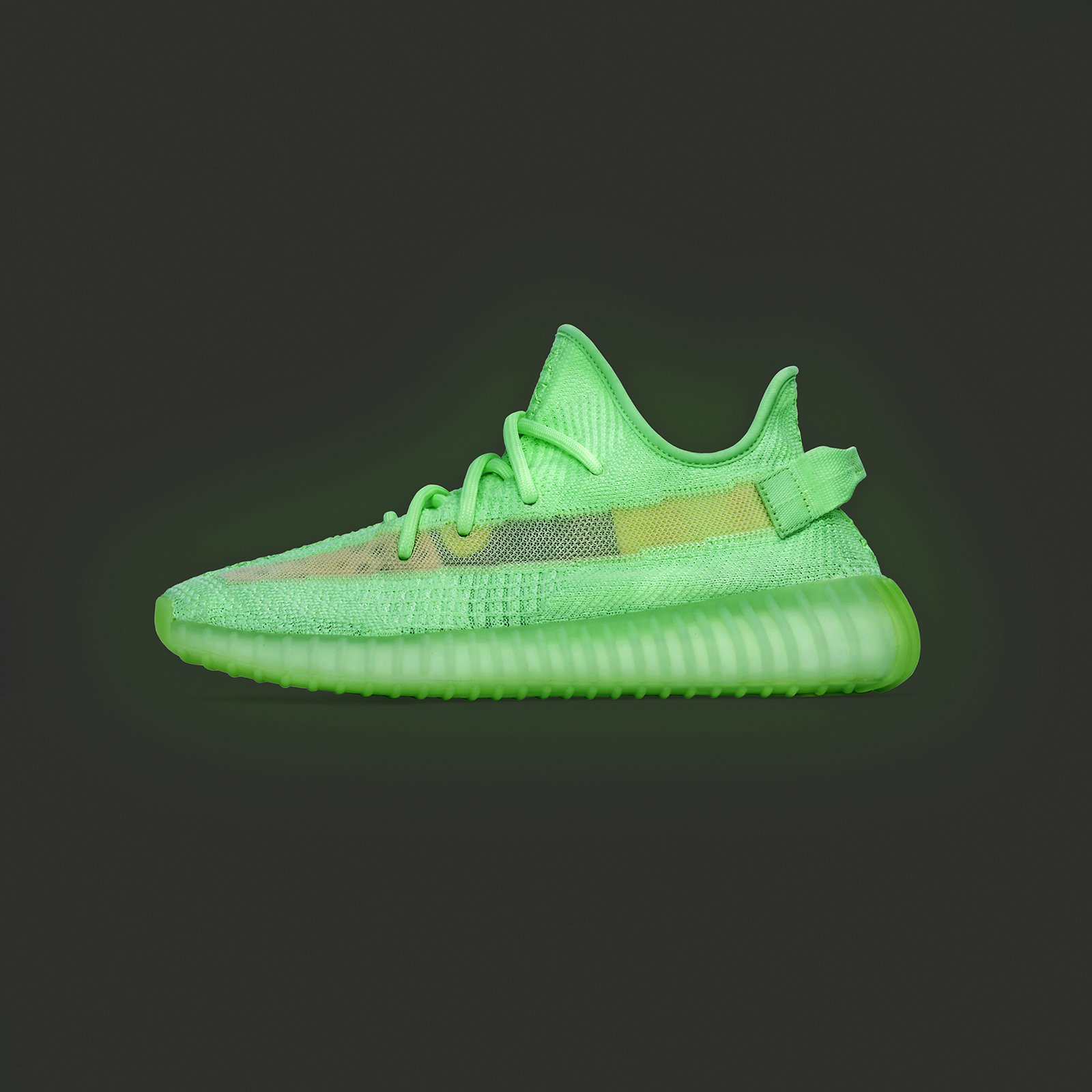 adidas yeezy boost 350 v2 gid glow adidas Originals x Kanye West Yeezy Boost 350 V2 GID - 5. Close