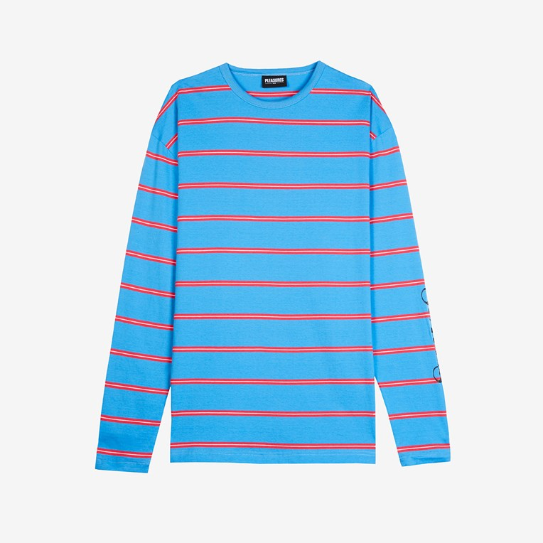 Pleasures Scream Striped Long Sleeve Shirt