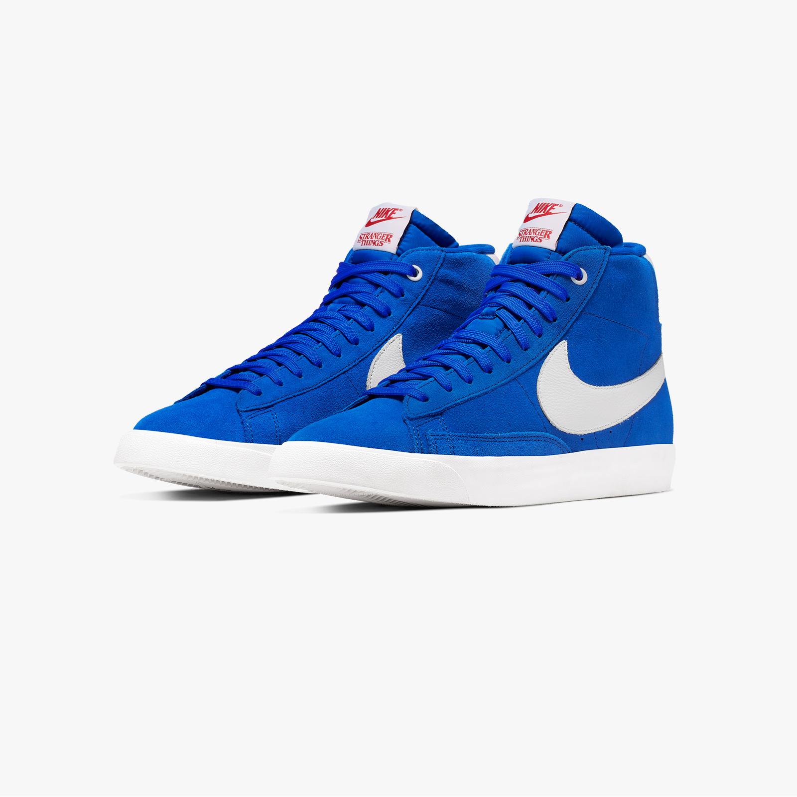 Neu Nike Blazer Mid Vintage Schuhe Herren weiß blau
