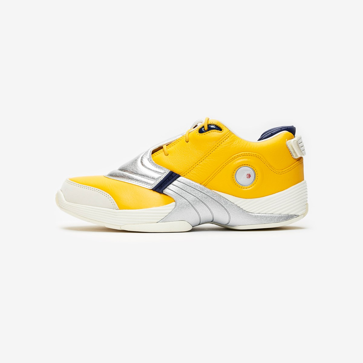 Reebok Answer V EH0408 Mens Yellow Leather High Top Athletic Basketball Shoes