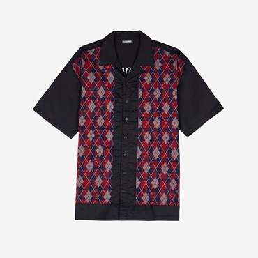 Hole Short Sleeve Button Up
