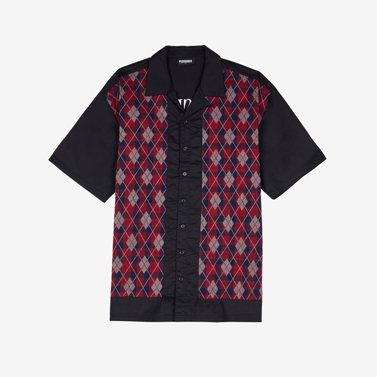 Pleasures Hole Short Sleeve Button Up