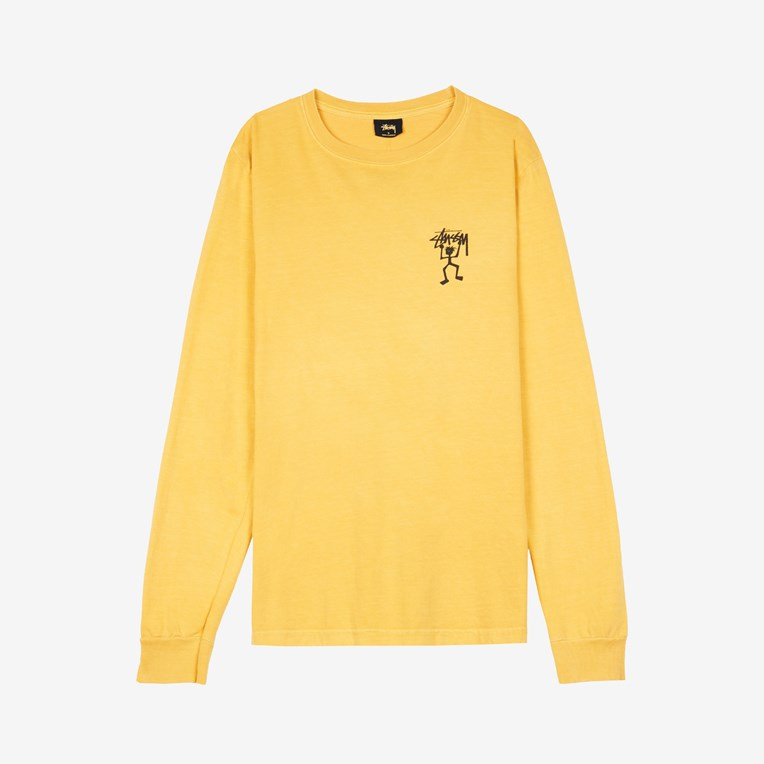 Stussy Warrior Man Pig.Dyed LS Tee
