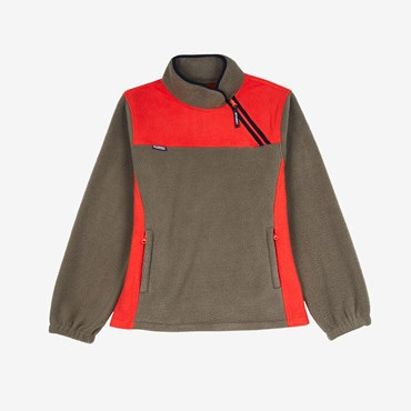 Drift Diagonal Zip Pullover