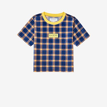 Velour Plaid Baby Tee