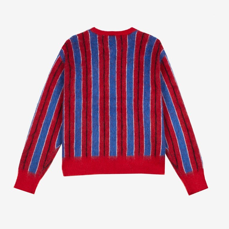 MadeMe Vertical Striped Mohair Sweater - 2