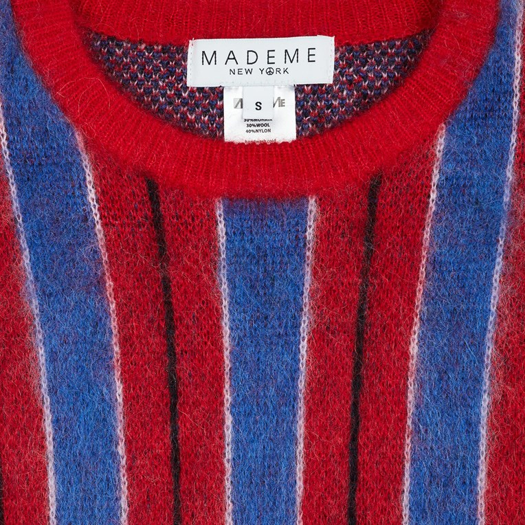 MadeMe Vertical Striped Mohair Sweater - 3