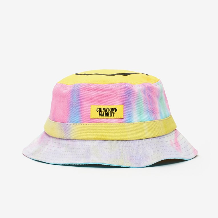 Chinatown Market Smiley Tie Dye Bucket Hat