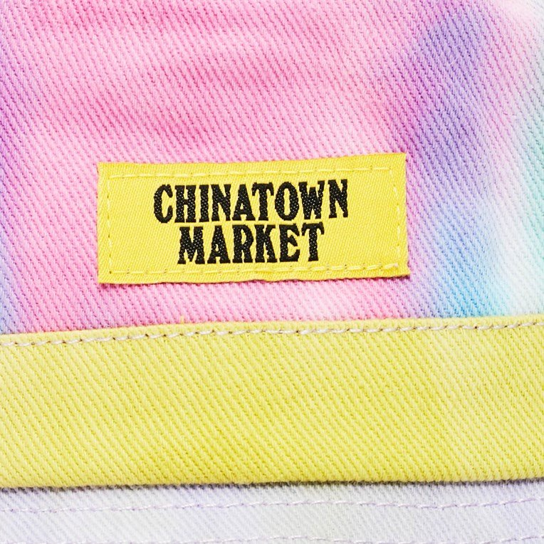 Chinatown Market Smiley Tie Dye Bucket Hat - 3
