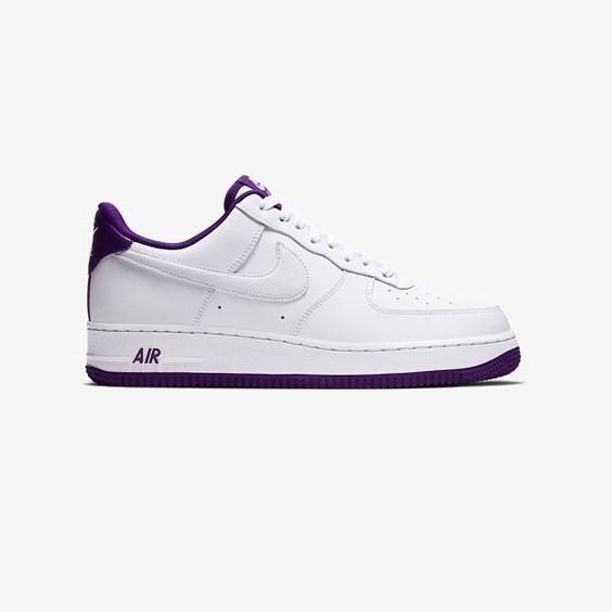 Nike Mens Nike Air Force 1 '07 - Mens Shoes White/Purple Size 08.0 - CJ1380-100