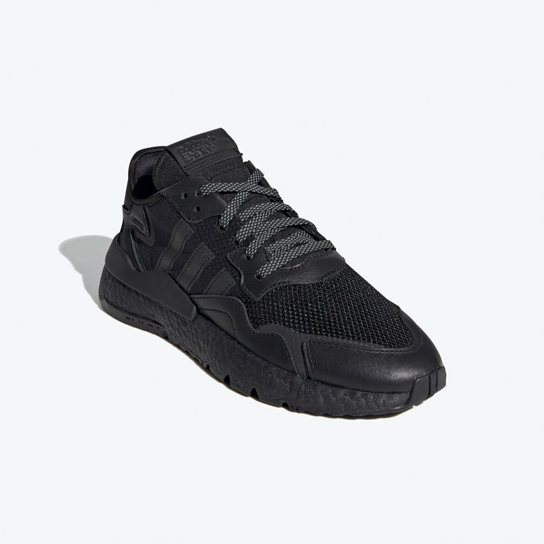 adidas NITE JOGGER HERRENSCHUHE SNEAKER TURNSCHUHE SPORTSCHUHE BLACK NEU FV1277