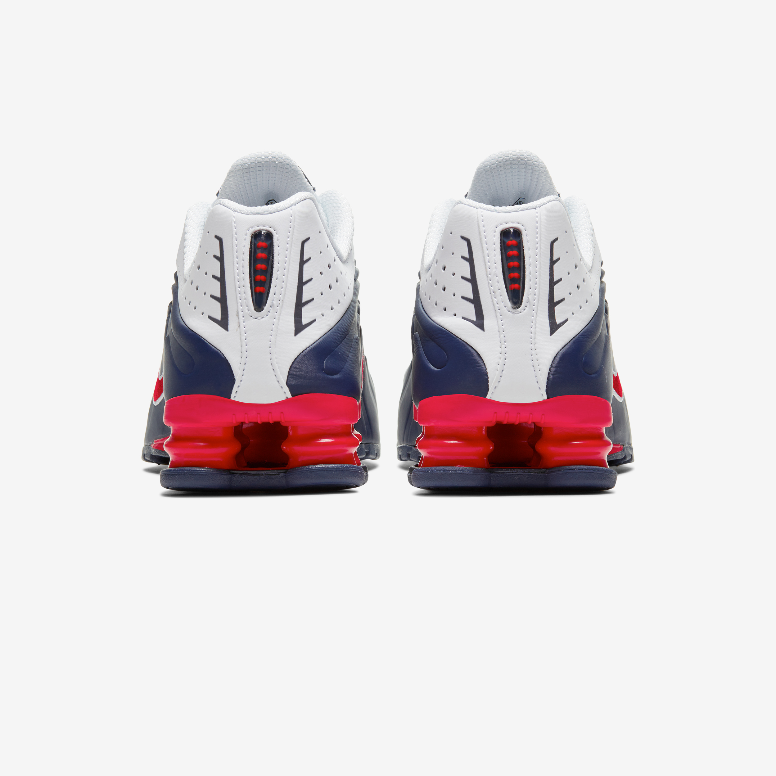 Nike Shox R4 USA Navy Red White Men Running Shoes Sneakers 104265-406