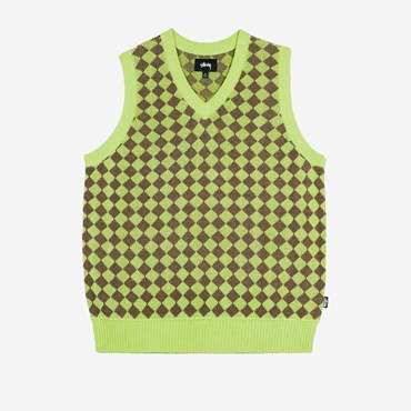 Melange Checker Sweater Vest