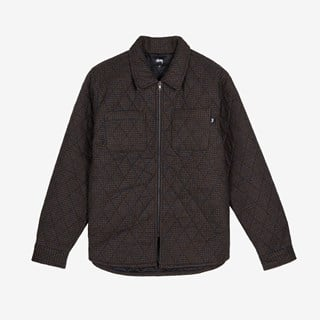 Stussy Mini Check Quilted Zip Shirt
