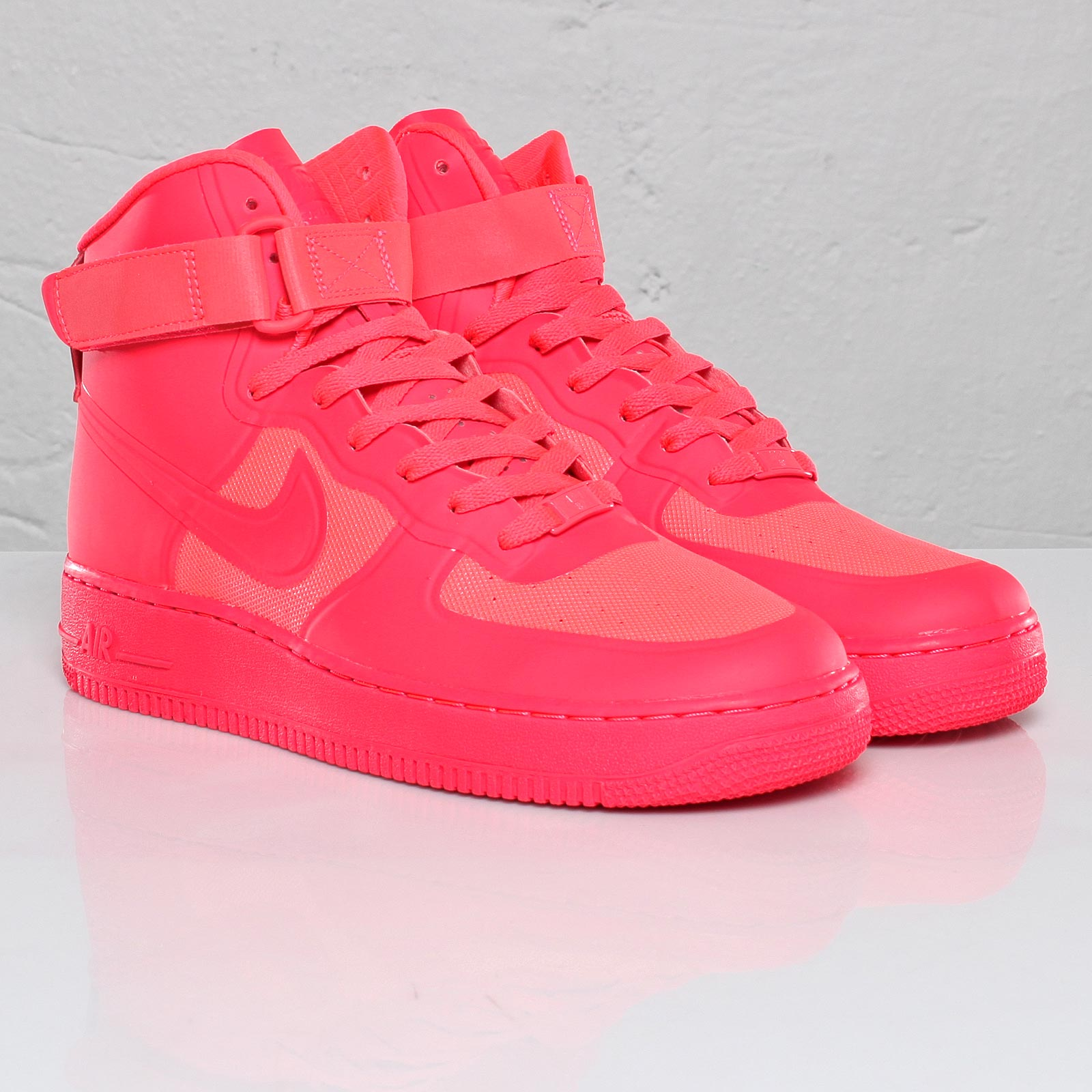 high top pink air force ones
