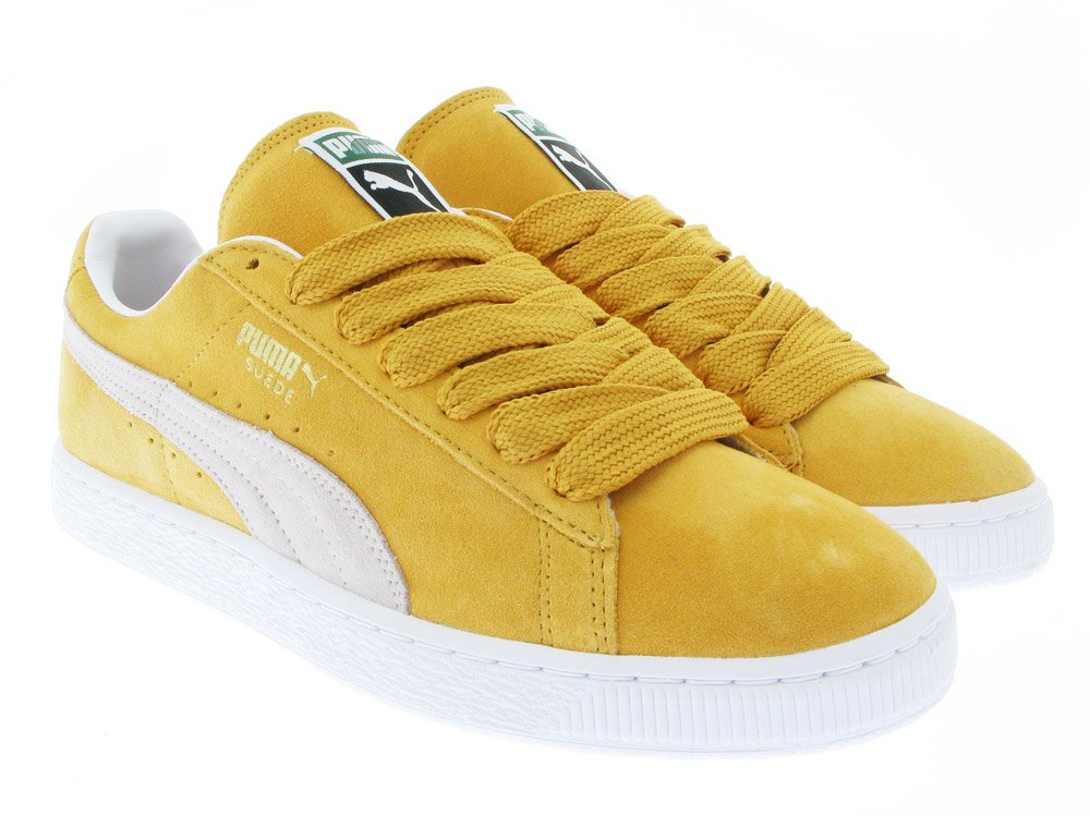 puma suede yellow