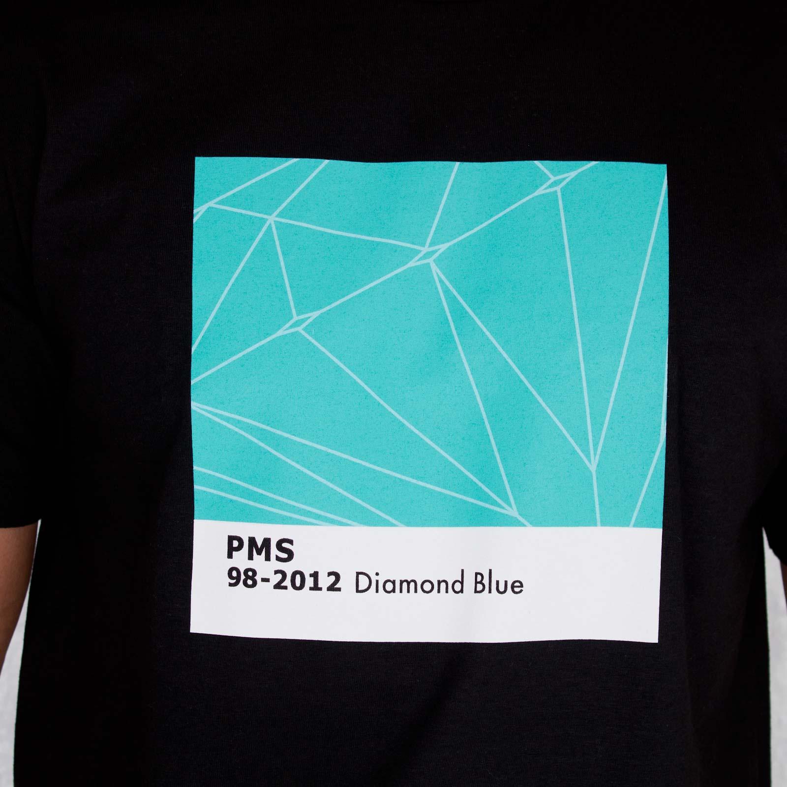 Diamond Supply Blue Co minées sur matière tee