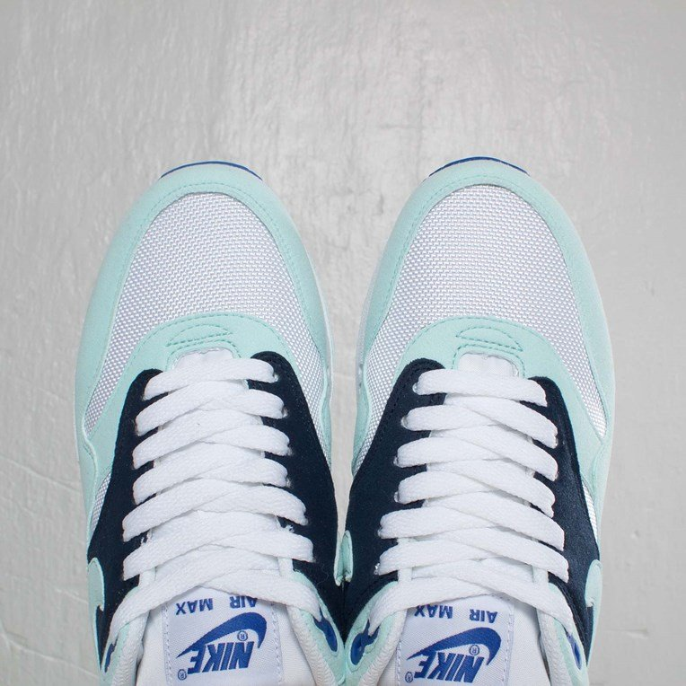 Nike Air Max 1 White Mint Candy Obsidian Game Royal For