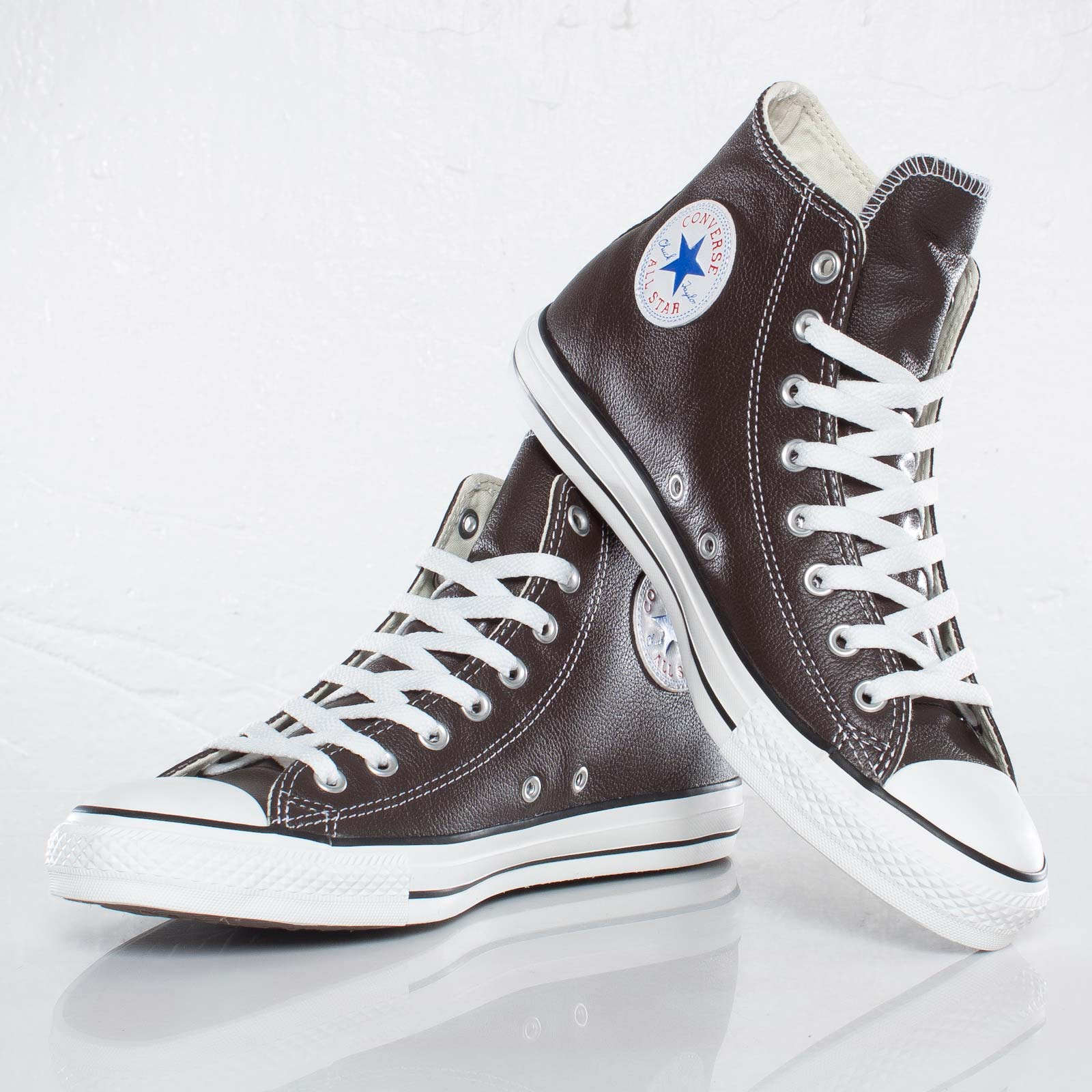 2converse all star leather hi