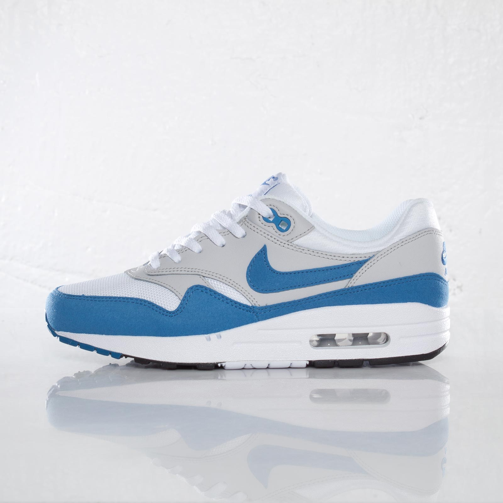 Nike Air Max 1 GS White Varsity Blue Neutral Grey Black