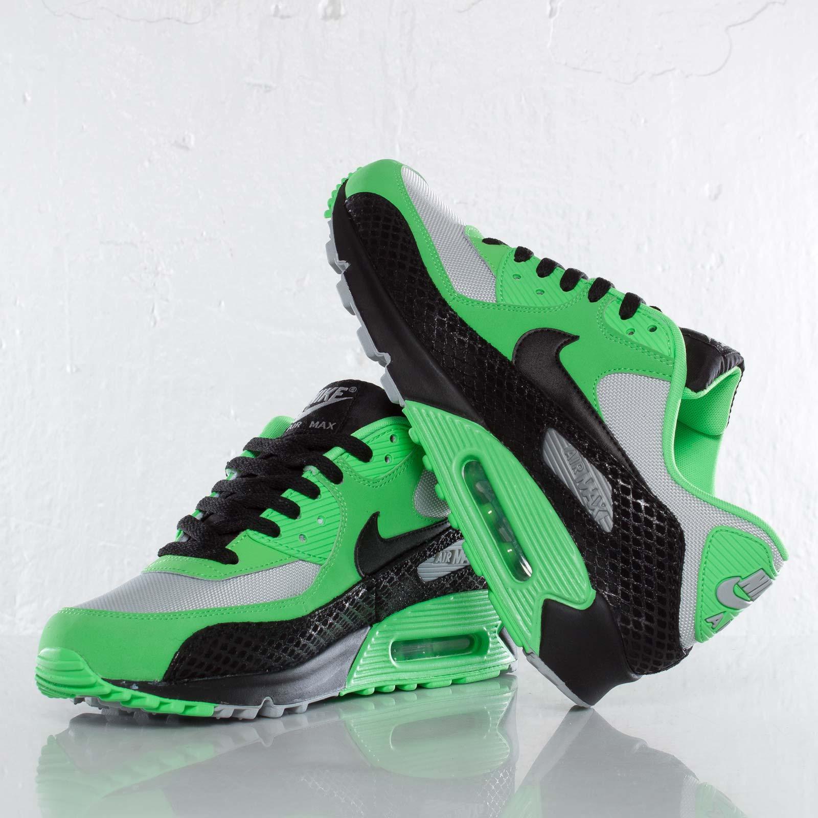 nike air max 90 premium poison green black