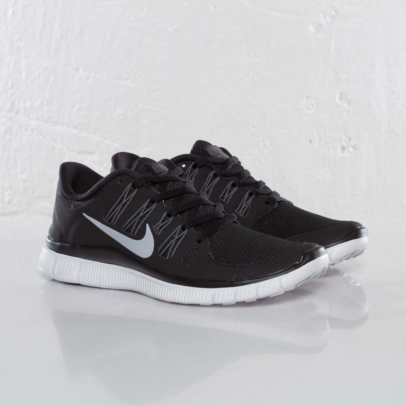 Details zu Women's Nike Free 5.0+ Black Metallic Silver Dark Grey White 580591 002