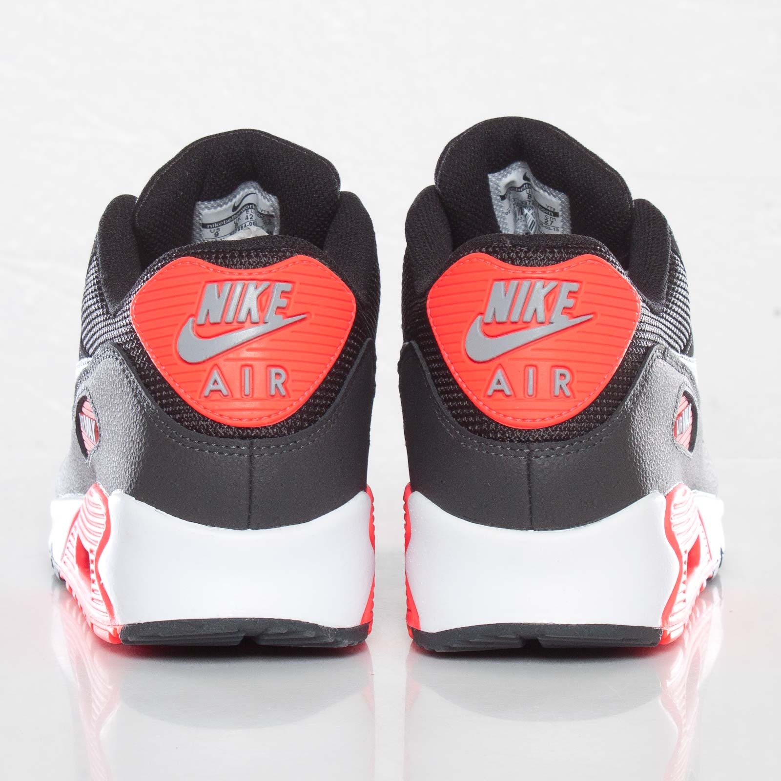 Details about NIKE AIR MAX 90 ESSENTIAL(BLACKWOLF GREY ATOMIC RED ANTHRACITE) Size 7.5 UK