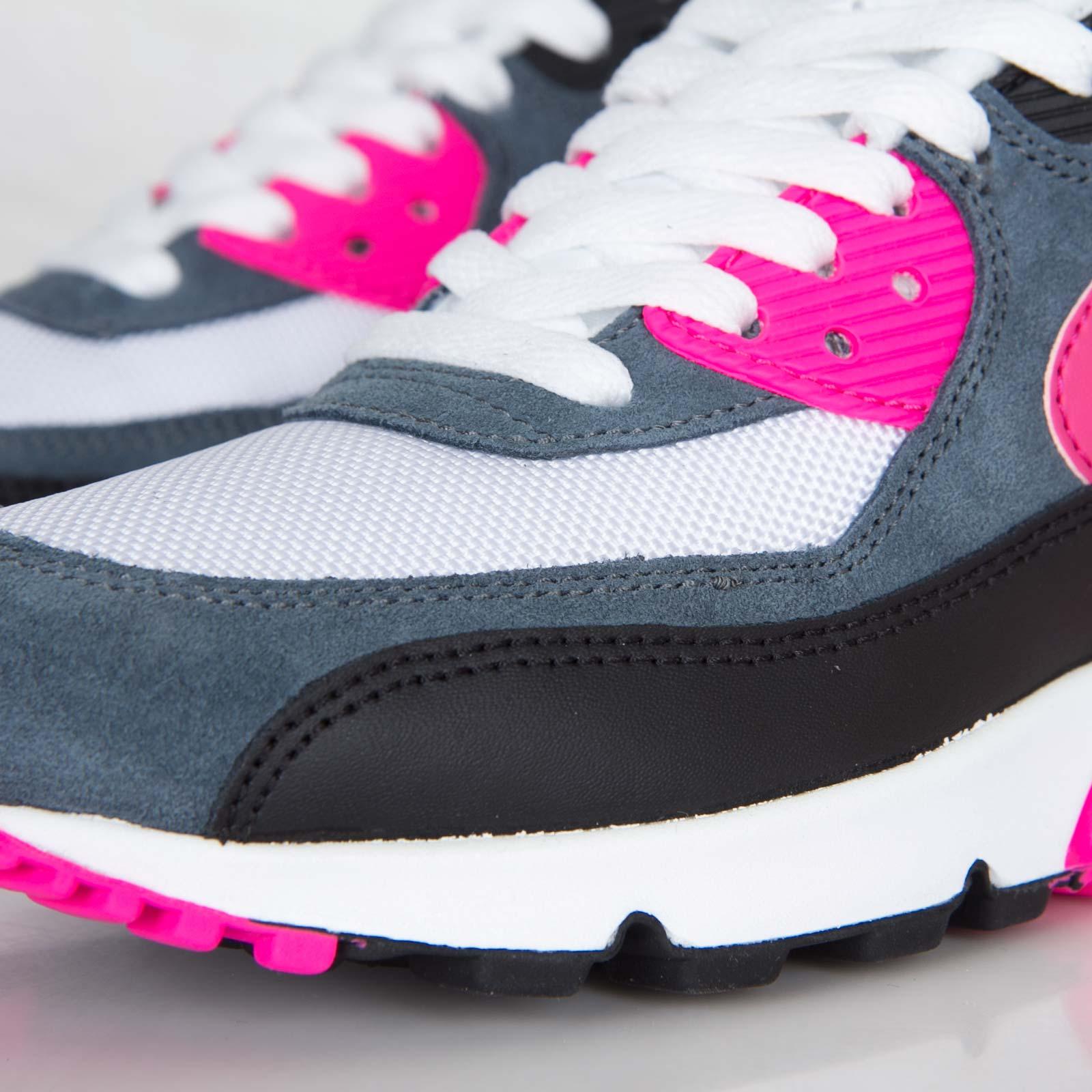 Nike Air Max 90 Essential Womens White Pink Foil Black