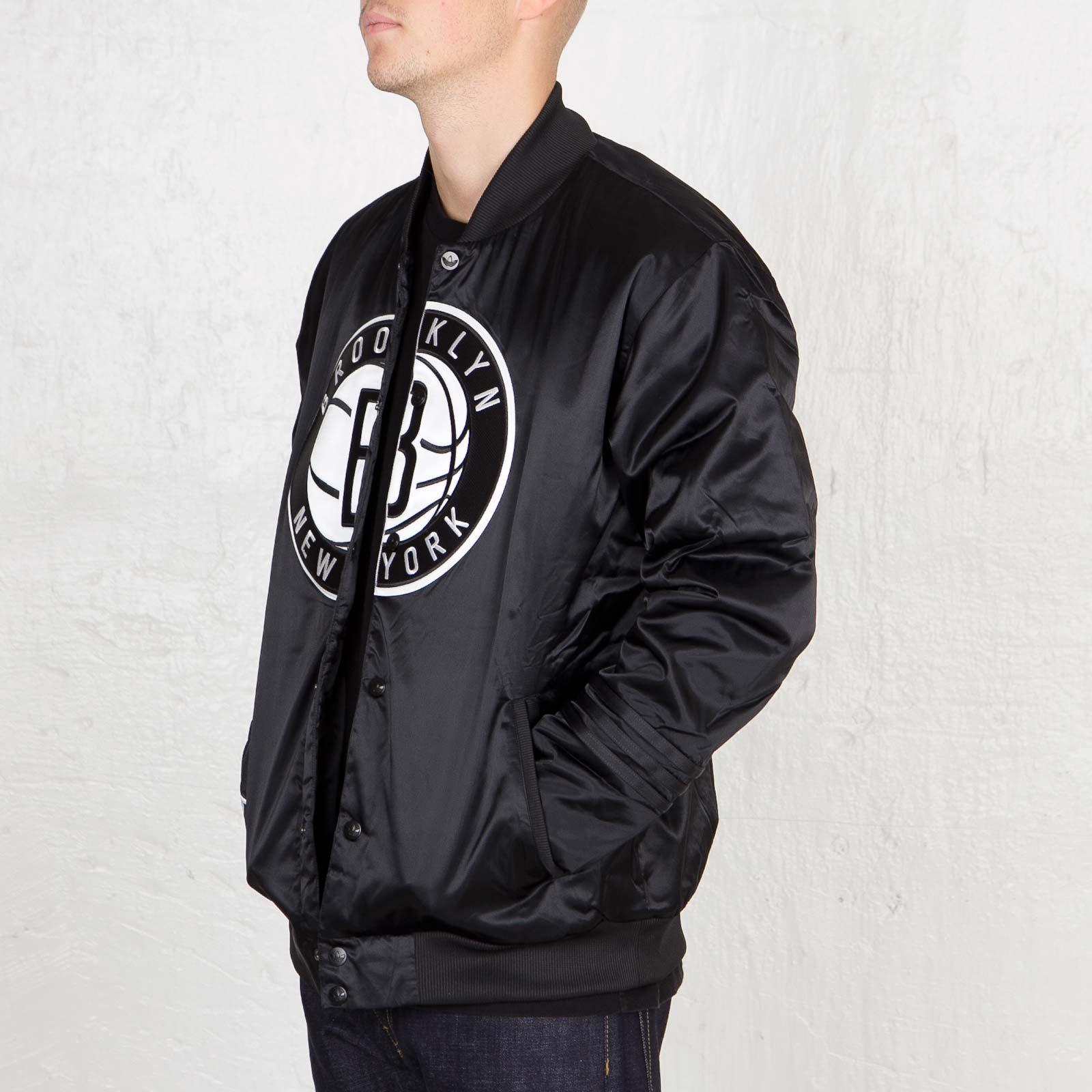 Adidas Black Originals Nba Brooklyn Nets Jacket for men